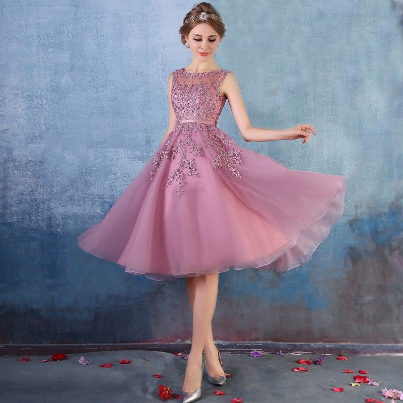 Light Purple Short Prom Dresses 2016 With Lace Applique Hand Beading ...