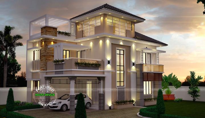 Modern Three Story Home Plans Modern Three Story House Plans Inspiring Home Design Kerala House Design 3 Storey House Design 3 Storey House
