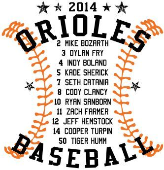 t shirt design star roster - Softball Jersey Design Ideas