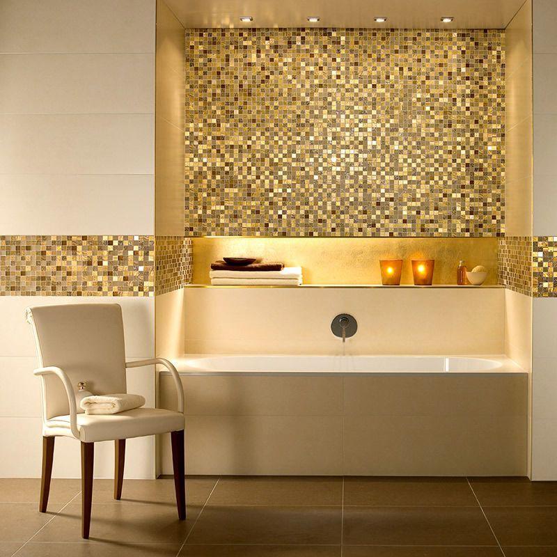 V B Moonlight Mosaic Tiles 1042 30 X 30cm Ukbathrooms Banheiros Modernos Banheiros Incriveis Reforma Banheiro