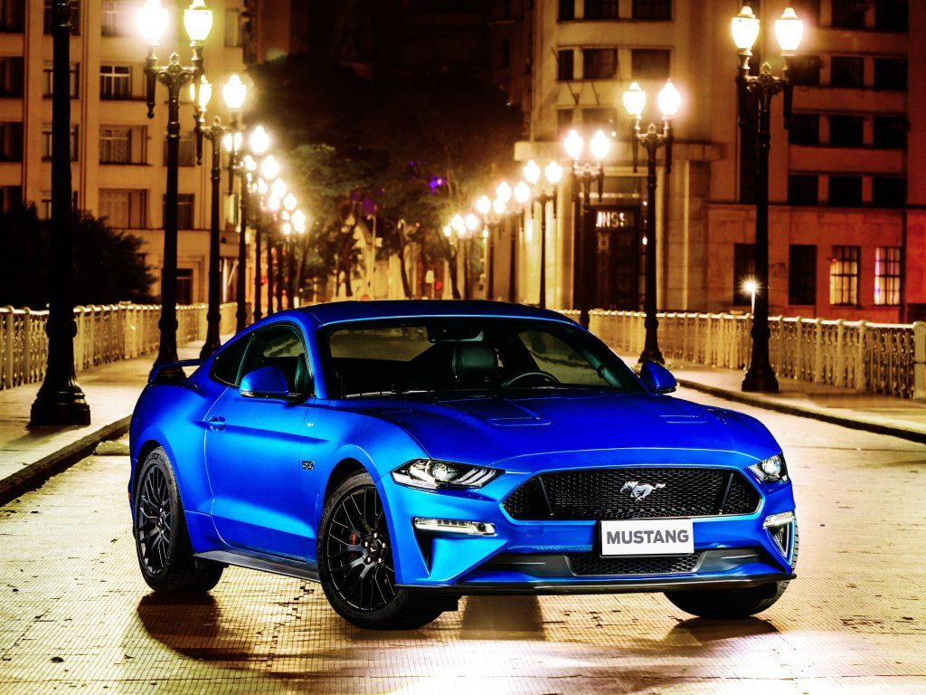 Ford Mustang Gt Fastback Blue 2018 Wallpaper Ford Mustang