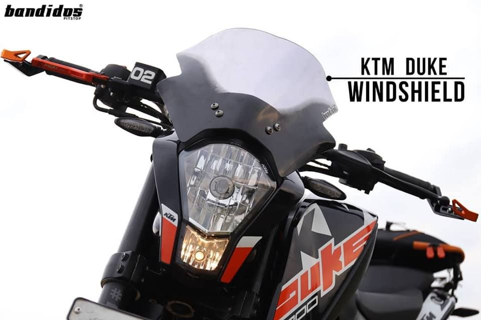Productfeature Windshield For Ktm Duke Back In Stock Windshield For Ktm Duke 200 And 390 That Provides Superior Wind Resistance Ktm Ktm Duke 200 Ktm Duke