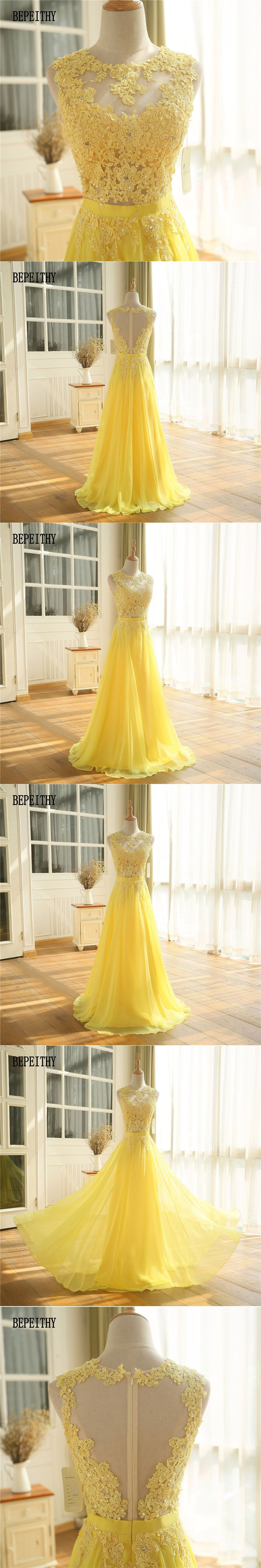 Bepeithy sexy see through lace top long prom dresses vestido de