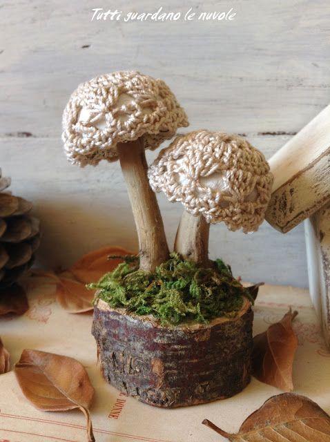 Hand Made - Kreatívna tvorba od A - Z: Autumn inspirations - Hríbiky z prírodných materiálov