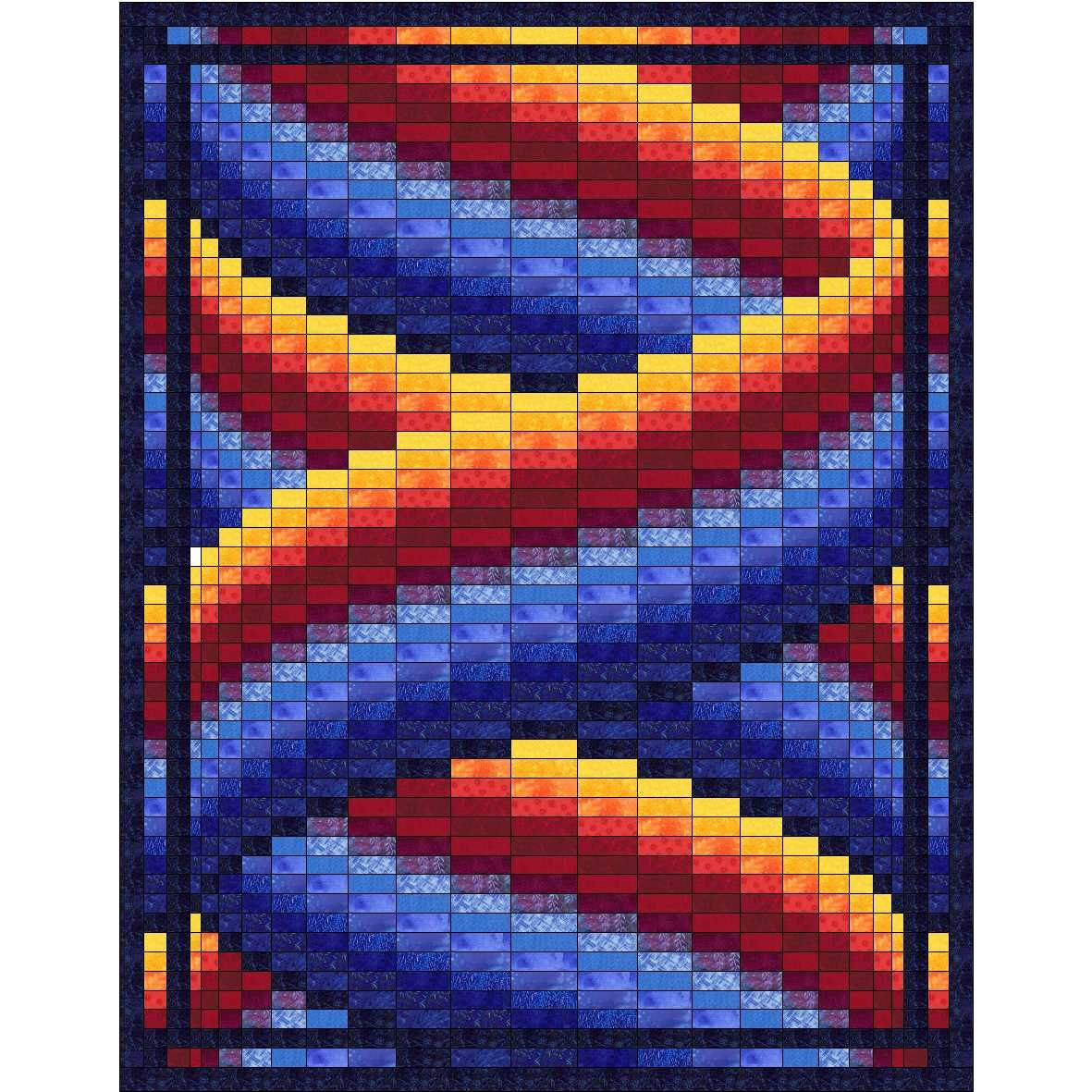 Curlz Bargello Quilt Pattern by QuiltingJays on Etsy https://www ...