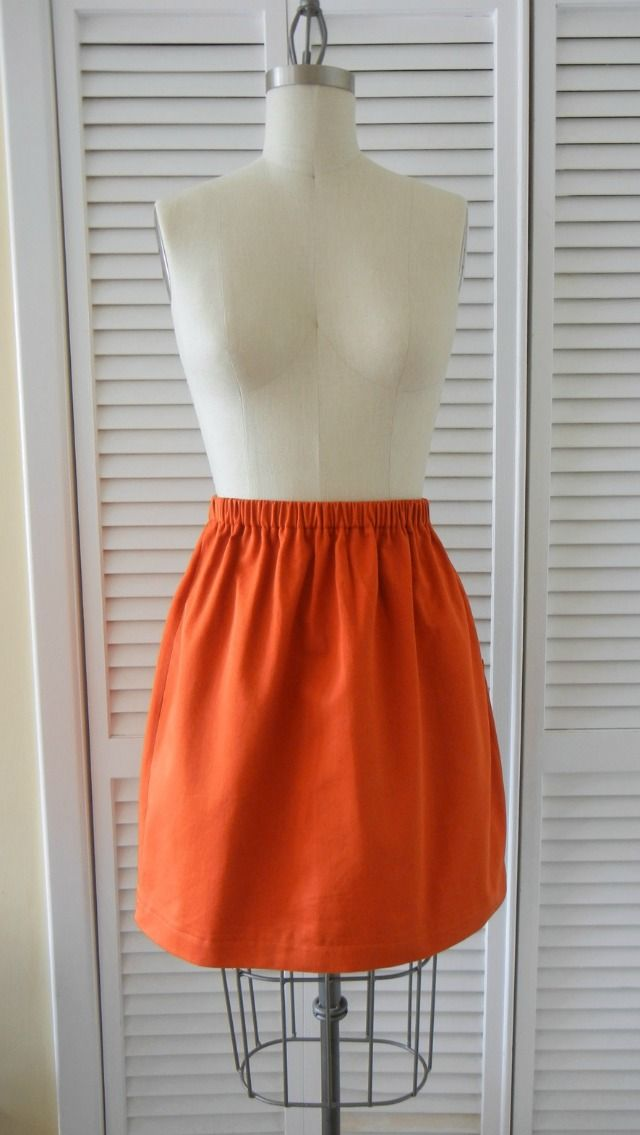 DIY: super simple beginner skirt (from Sandi - I'd love to learn to sew a skirt for my girls & myself ... just a longer one, to our knees or even longer).
