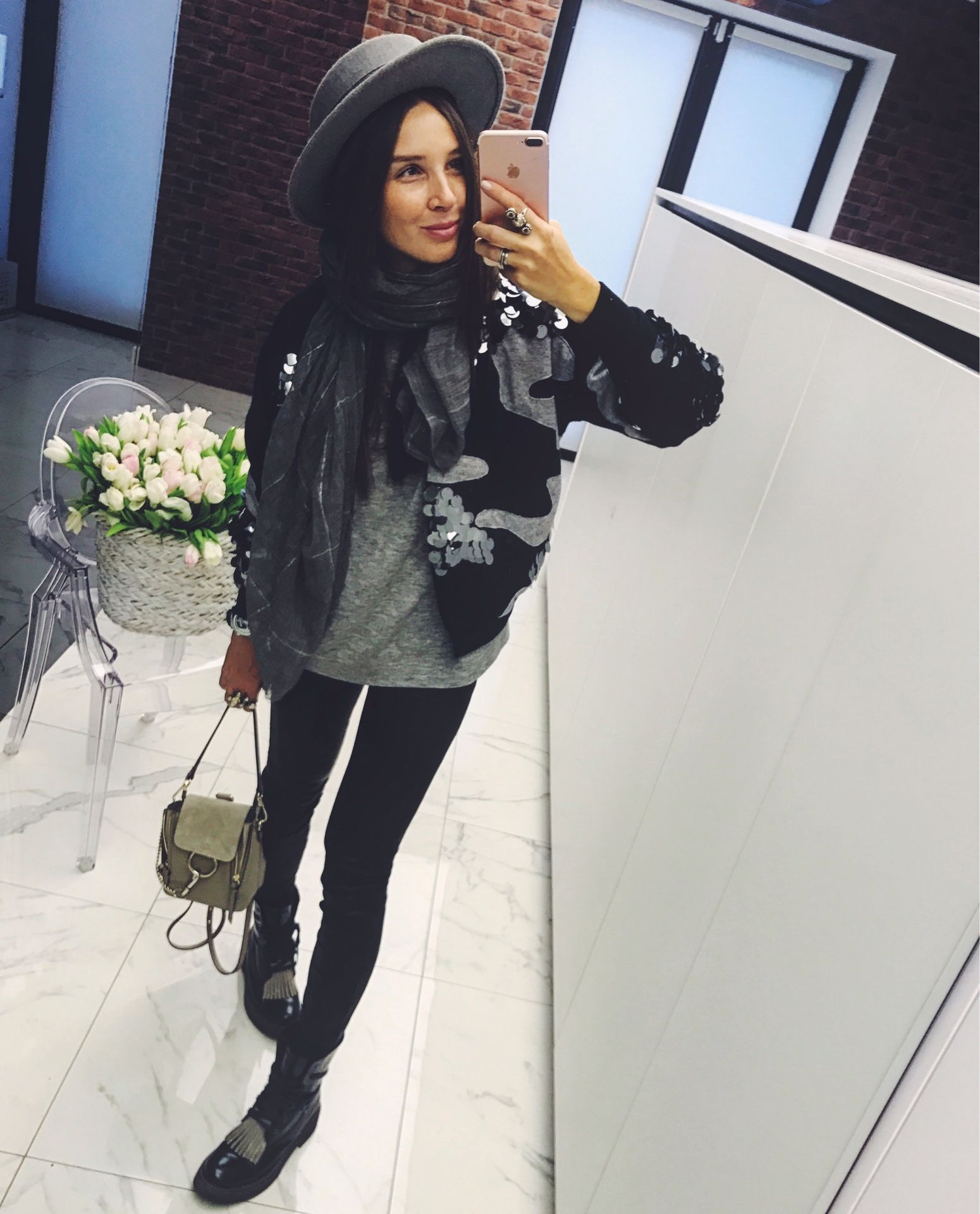 Achers's black and grey bomber decorated with big sparkles, stylish bomber, cardigan, trendy bomber