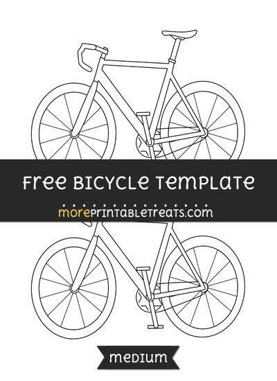 free bicycle template medium shapes and templates printables