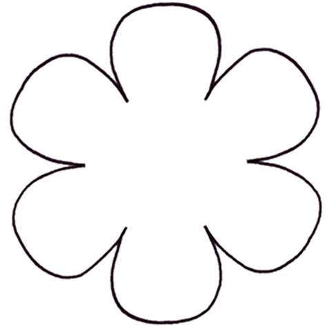 Printable flower daisy 8 petal flower pattern for Daisy cut out template