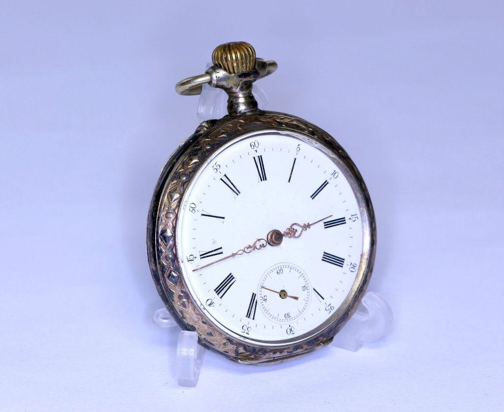 Offene Herren Taschenuhr Königsberg um 1889 Silber 800 Open Face Silver