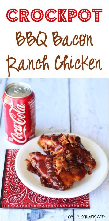 Crockpot BBQ Bacon Ranch Chicken Recipe! ~ from TheFrugalGirls.com ~ this easy Slow Cooker dinner is packed with flavor and definitely a family favorite! #slowcooker #recipes #thefrugalgirls