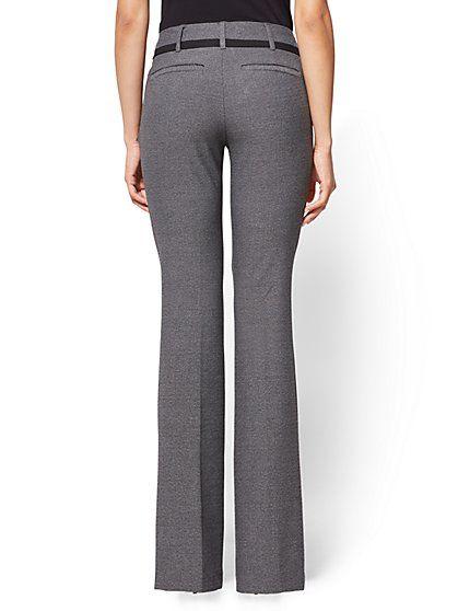 5ce4f7d7d0 7th Avenue Pant - Bootcut - Modern - Heather Grey - Petite - New York &  Company