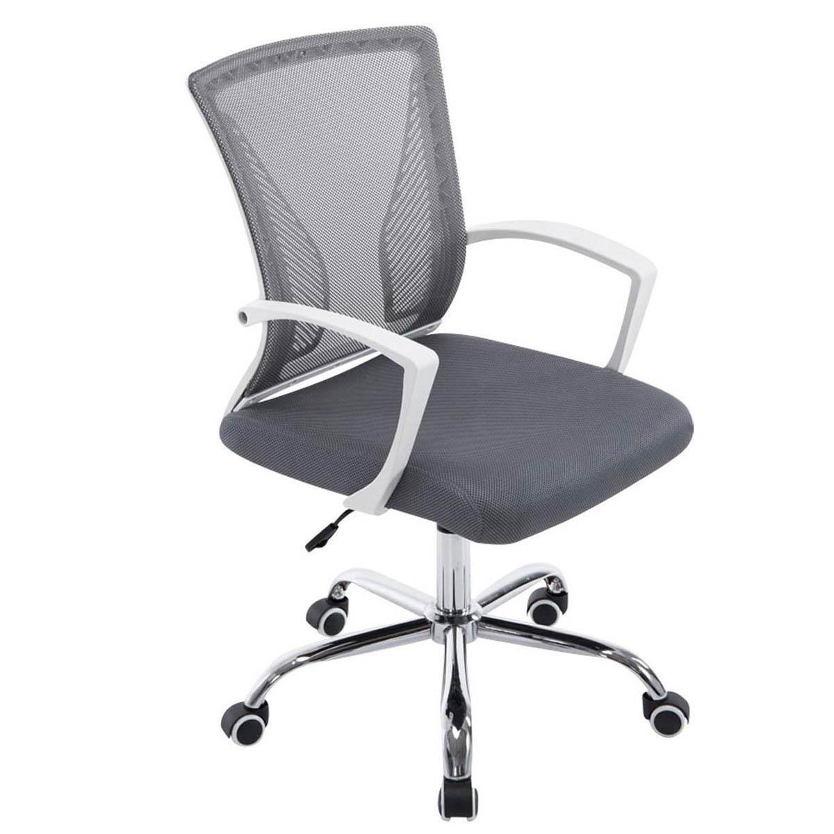 Wood swivel desk chair laquered finish warms amp padded seat ebay - Silla De Oficina Cuba Estructura Met Lica En Malla Transpirable Color Gris