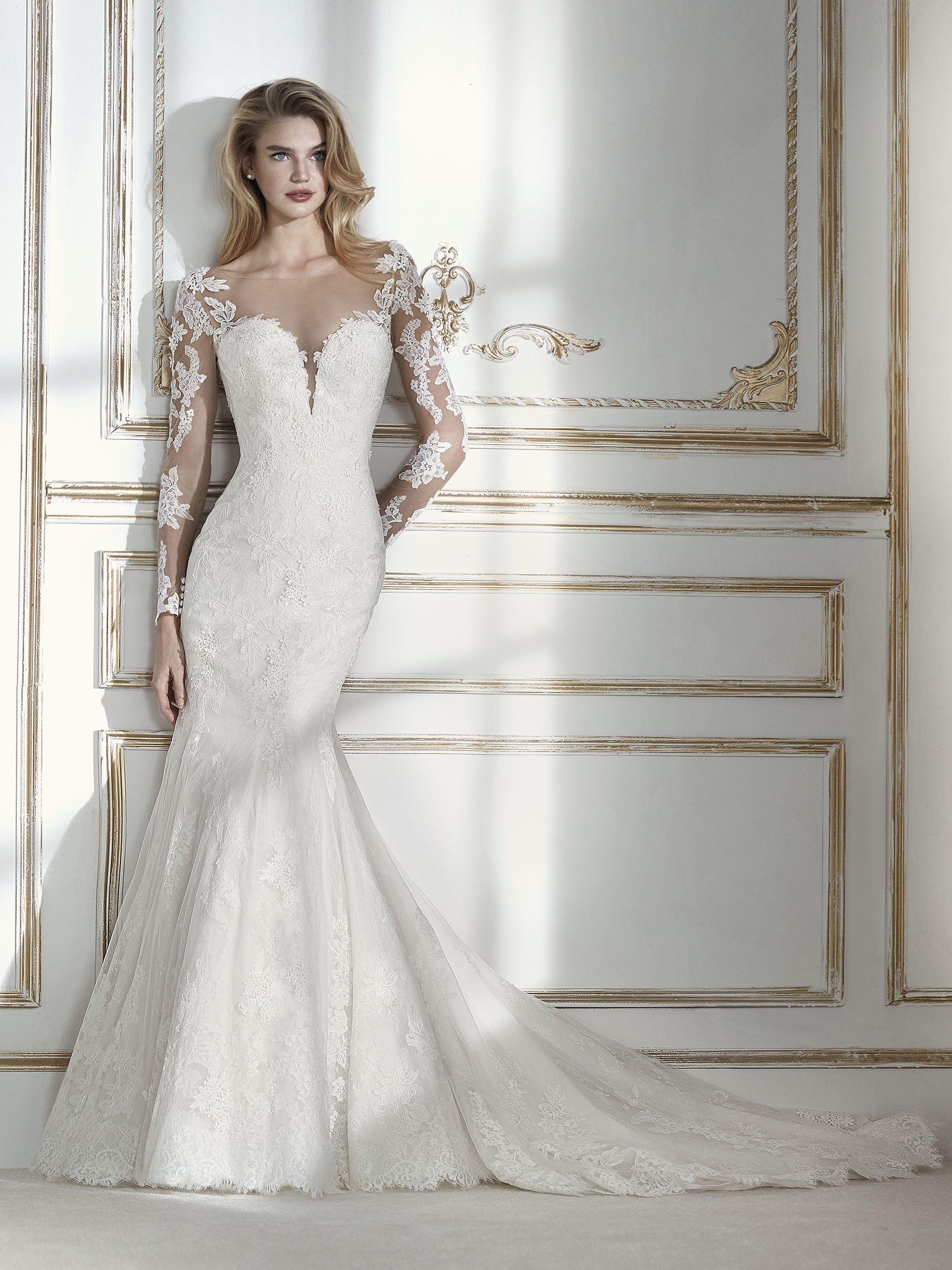 La elegancia se personifica en este fabuloso vestido de novia corte ...