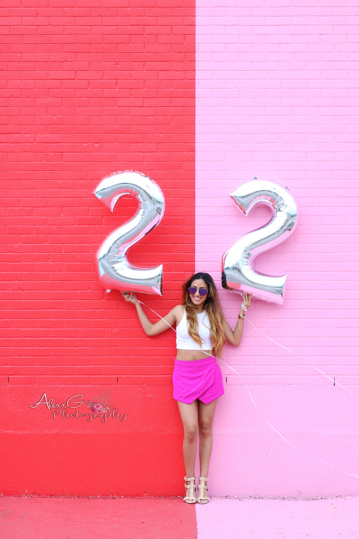 Birthday Photoshoot - Color Wall - Sugar and Cloth Wall - Houston ...