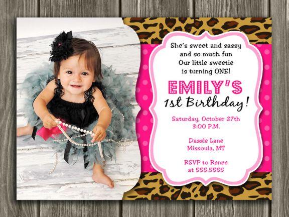 Printable Leopard Print Birthday Photo Invitation – Leopard Print Birthday Cards