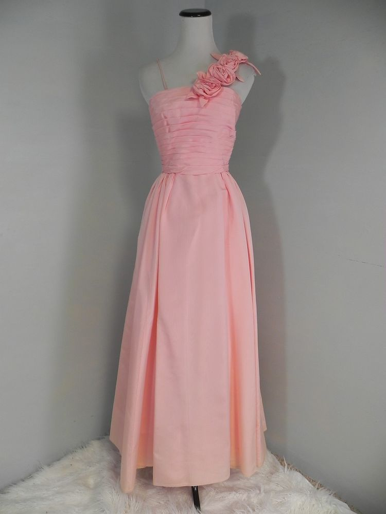 Classic sweet 16 vintage prom dress 60s Pink Moire Taffeta One ...