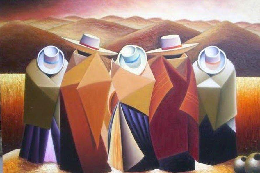 Pinturas cuadros las cholas cuadros peruanos modernos for Cuadros decorativos modernos