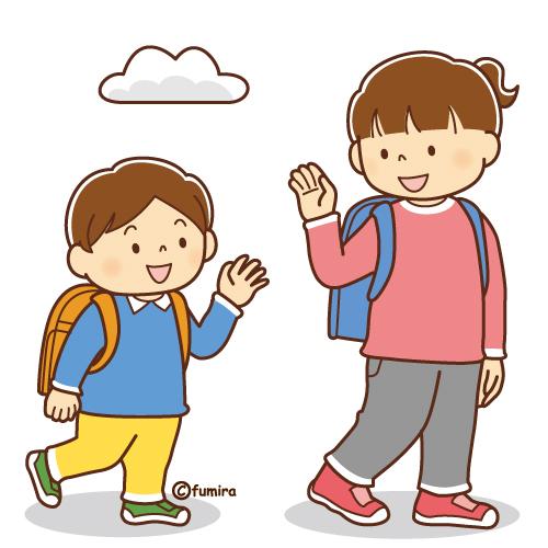 こんにちは」とあいさつする子どものイラスト(ソフト) | 子供と動物 ...