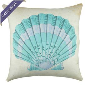 """Add a beach-chic touch to your favorite nook or arm chair with this plush pillow.  Product: PillowConstruction Material: Linen and burlapColor: MultiFeatures:  Handmade by TheWatsonShopReverses to burlap backInsert includedMade in the USA Dimensions: 16"""" x 16""""Cleaning and Care: Spot clean only"""