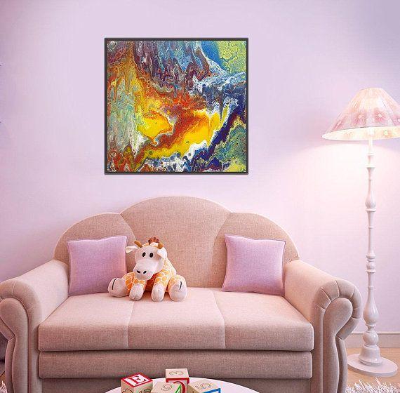 Original Modern Art, Wall Art, Fluid Acrylic Art Sale, Fluid Acrylic ...
