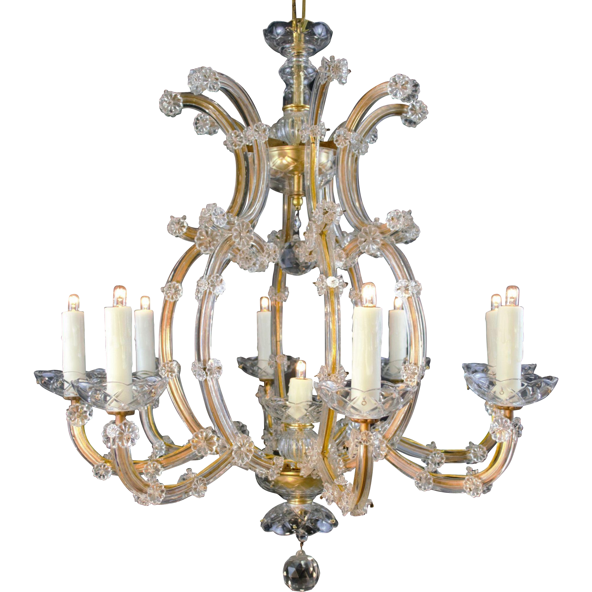 9 Light Maria Theresa Bohemian Crystal Chandelier Found At Www