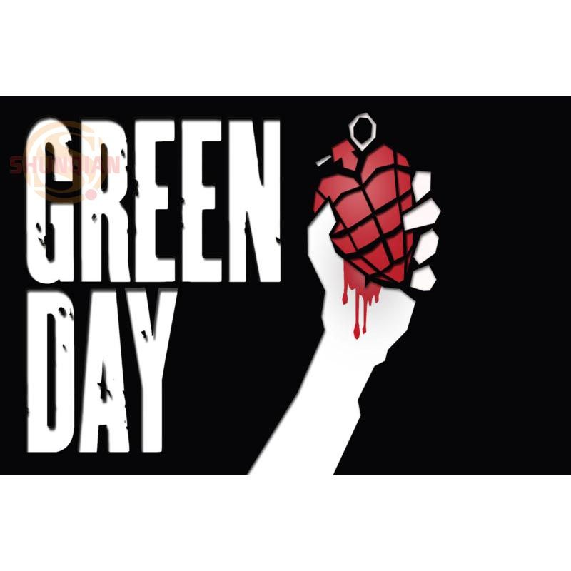 new green day poster custom best wall sticker classical posters