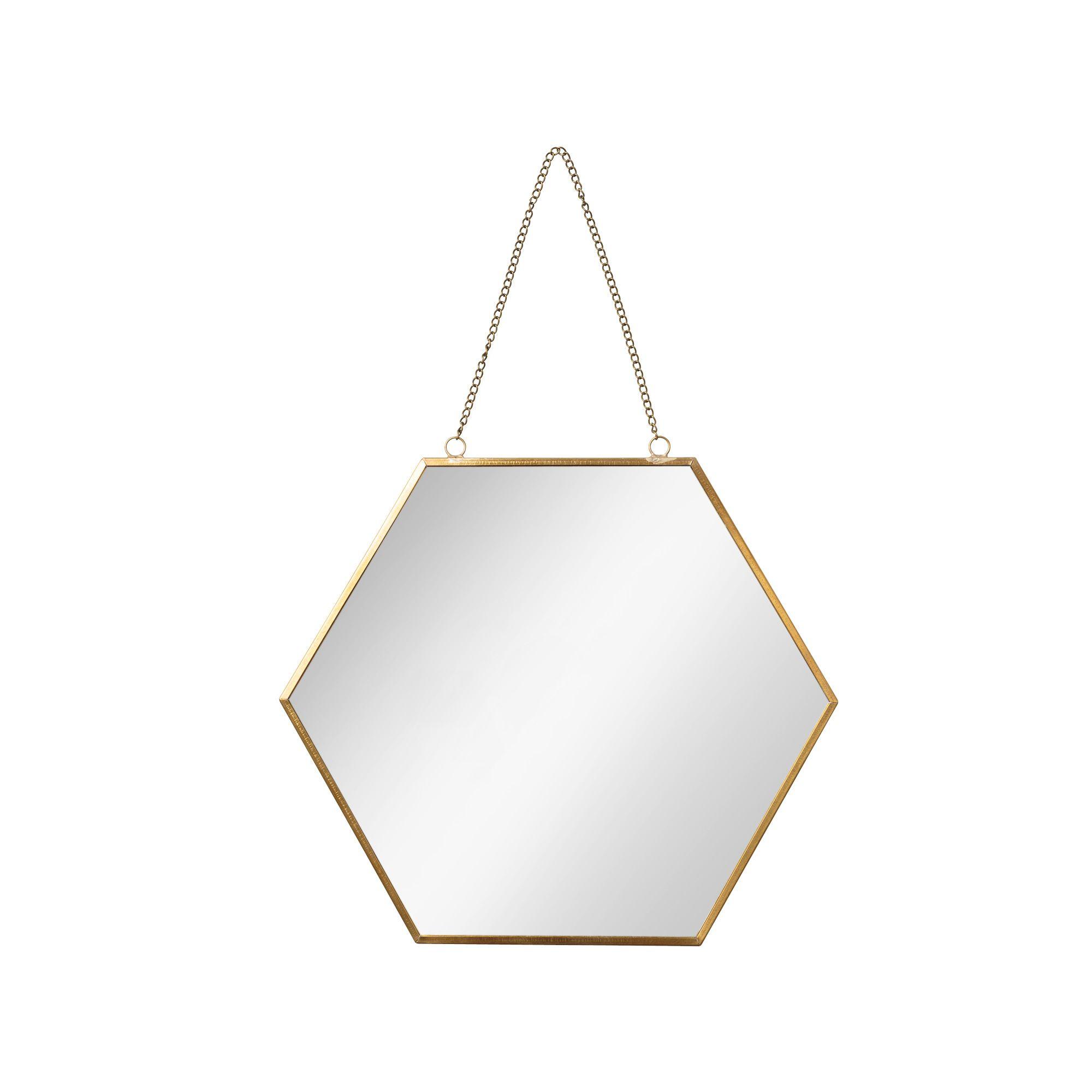 Buy the Small Gold Hexagon Mirror at Oliver Bonas. Enjoy free UK ...