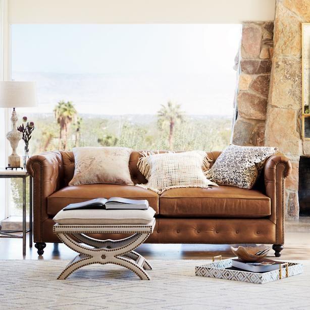 Petite Barrow Leather Sofa | Fantasy chairs | Pinterest | Leather ...