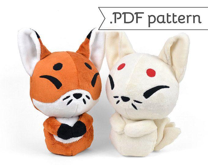 Kitsune Fox Japanese Kyuubi Ninetales Plush Sewing Pattern .pdf ...