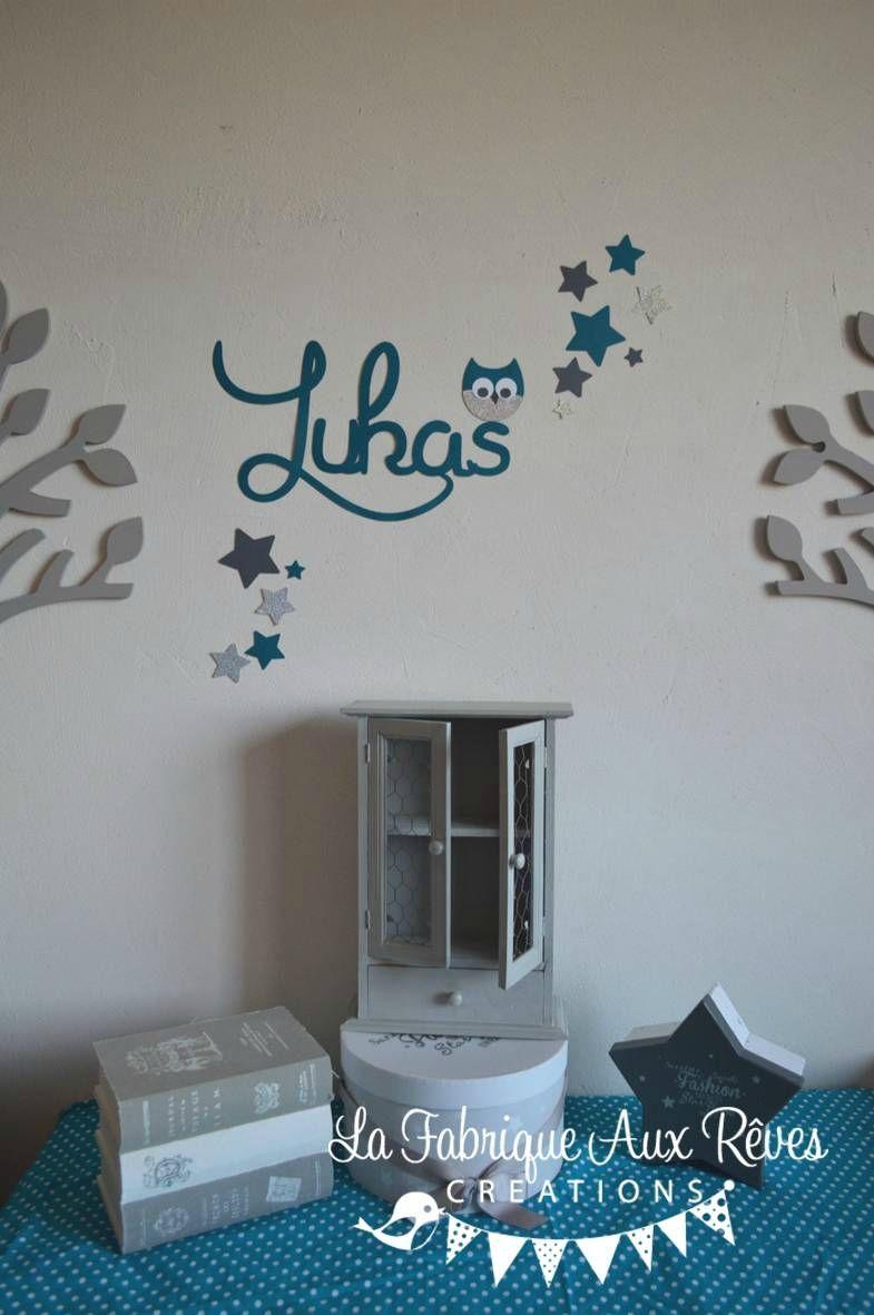 chambre bébé bleu canard vert taupe - Lilo | Chambre d\'enfant ...