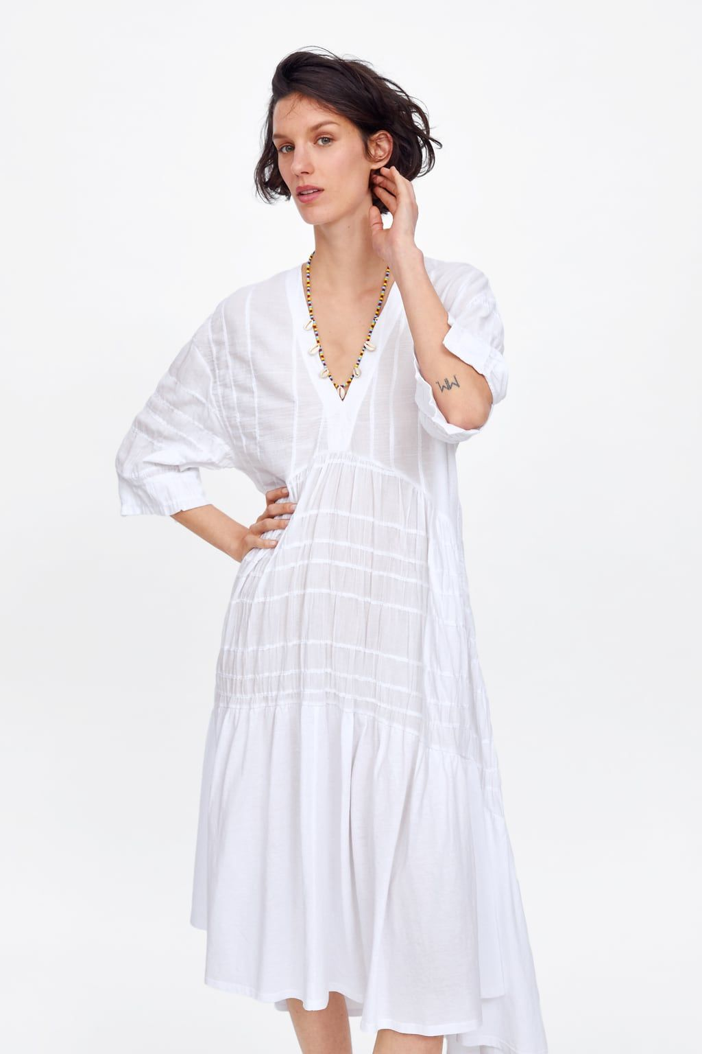 dress with ruching - view all-dresses-woman | zara united
