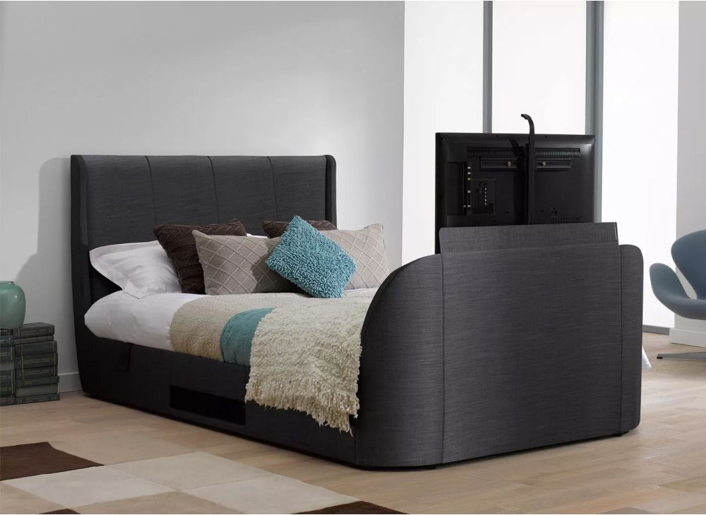 Terrific Titanium T3 Tv Bed Frame With Samsung Led Tv Dreams Tv Theyellowbook Wood Chair Design Ideas Theyellowbookinfo