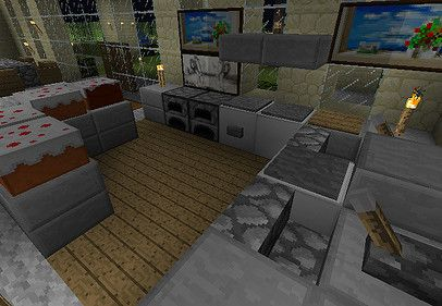 Minecraft Interior Design Kitchen Hom Furniture Minecraft
