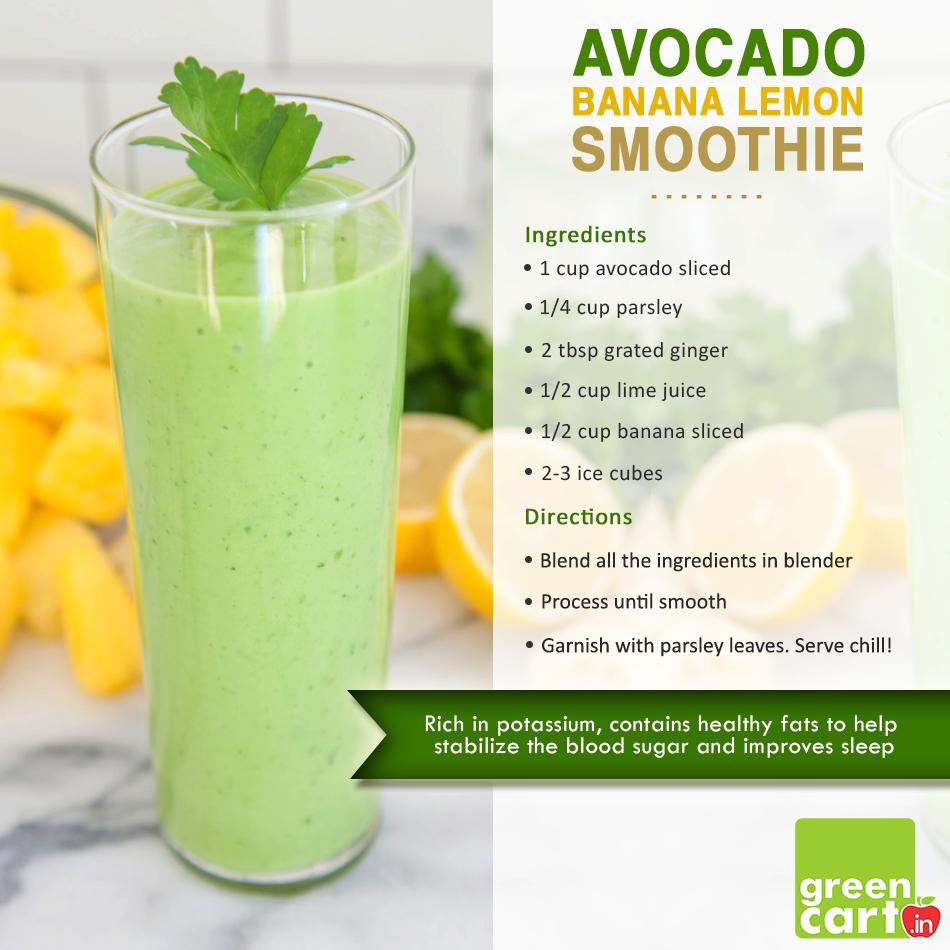 #Avocado #Banana #Lemon #Smoothie #Recipe