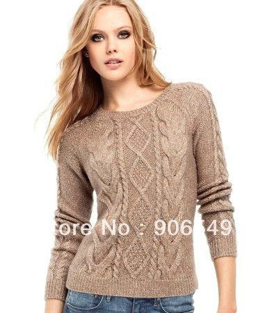New-Winter-And-Auturm-Women-Cable-Knit-Sweater-Pullover-Fashion ...