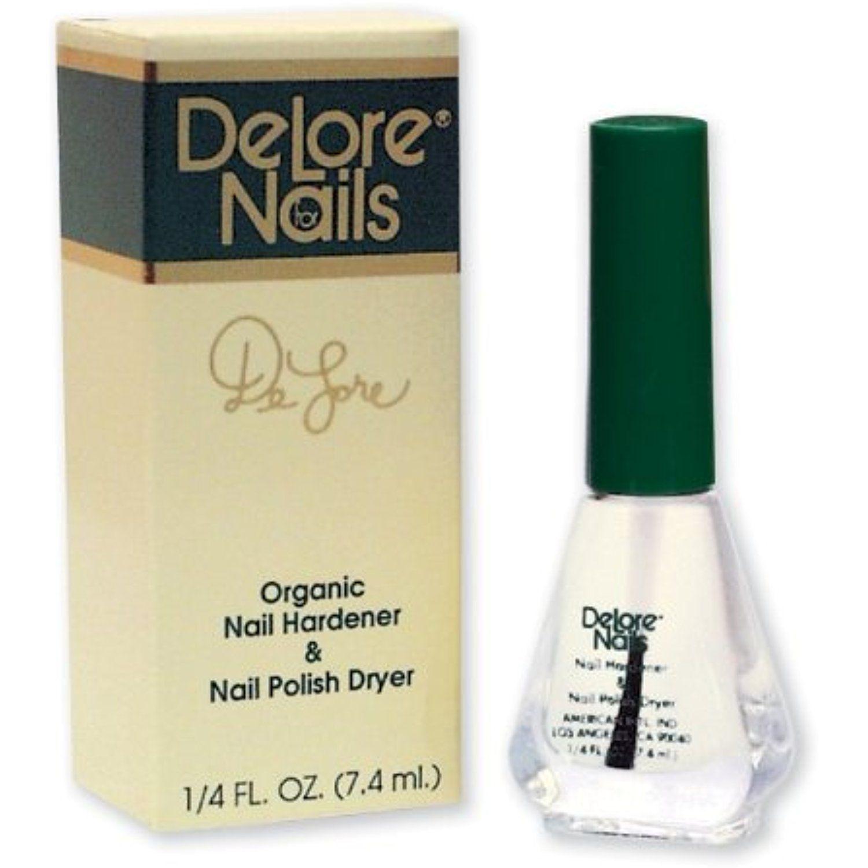 Delore for Nails Organic Nail Hardener and Nail Polish Dryer, .25 ...