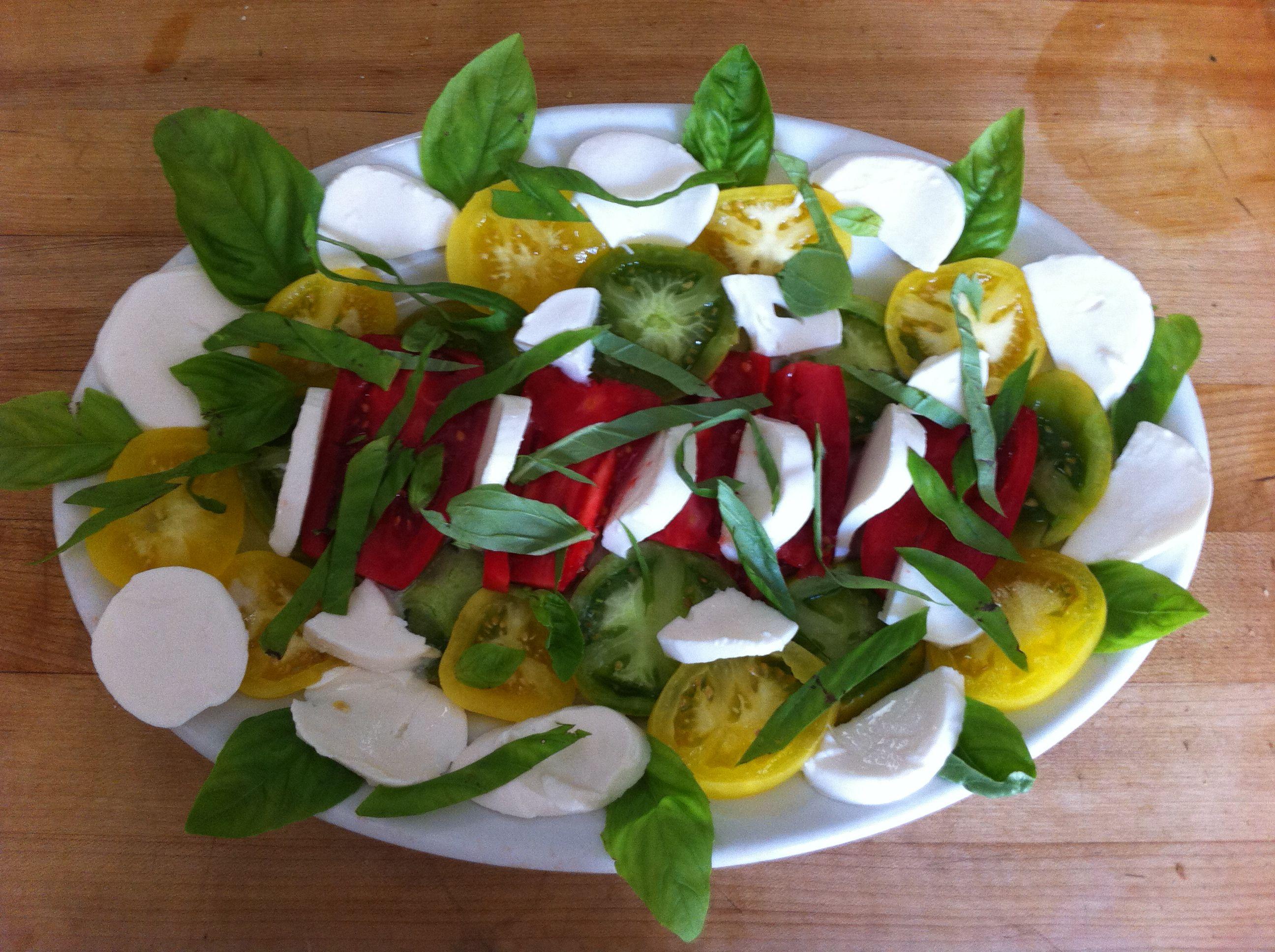 Cannot believe I'm still eating heirloom caprese salad in November!