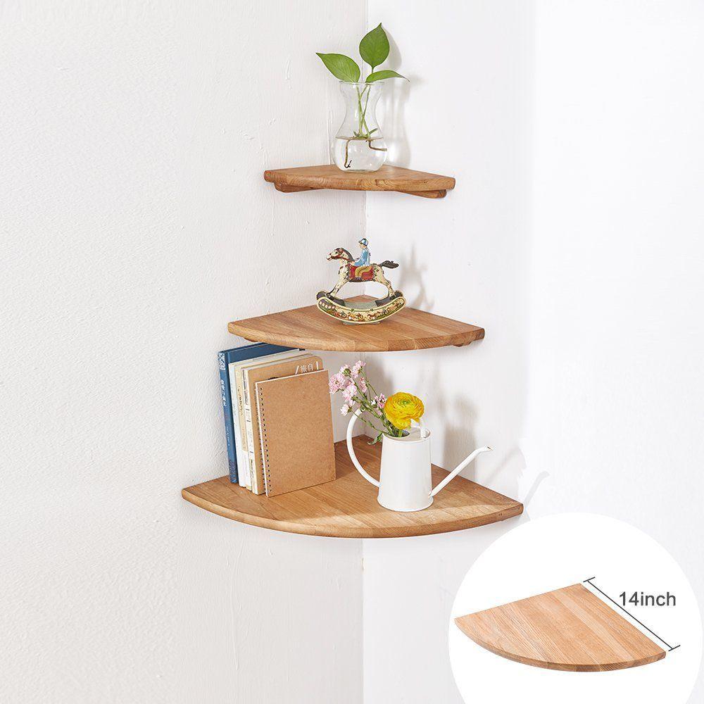 50 Lovely Living Room Design Ideas For 2020: Farmhouse Corner Shelves & Rustic Corner Shelves In 2020