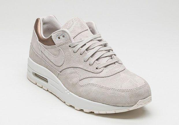 Nike WMNS Air Max 1 PRM Gamma Grey 454746-009 | SneakerNews.com