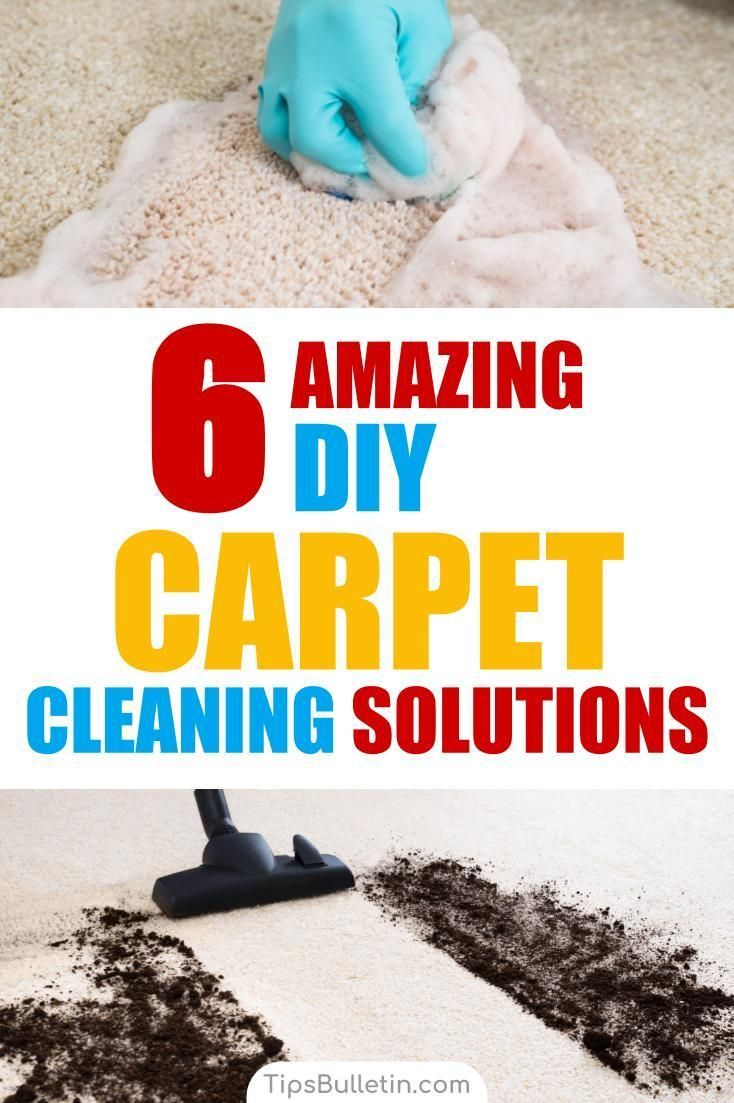 6 Amazing Diy Carpet Cleaning Solutions Cleaning Tips
