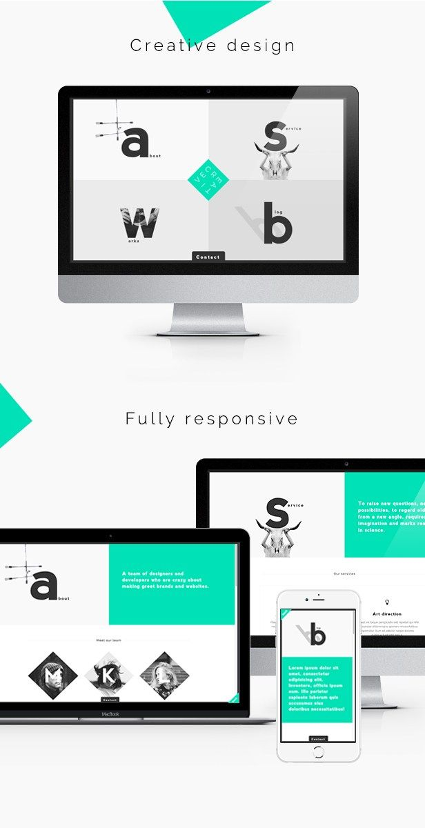 Creative Portfolio & Agency WordPress Theme | Pinterest