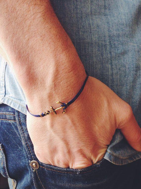 Bracelet cordon cire homme