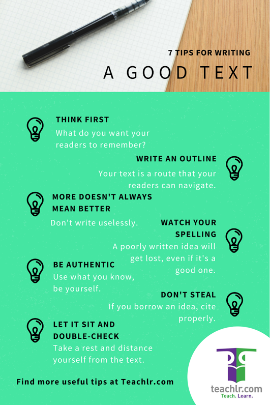 Remind your students how to be good writers with these very simple tips.