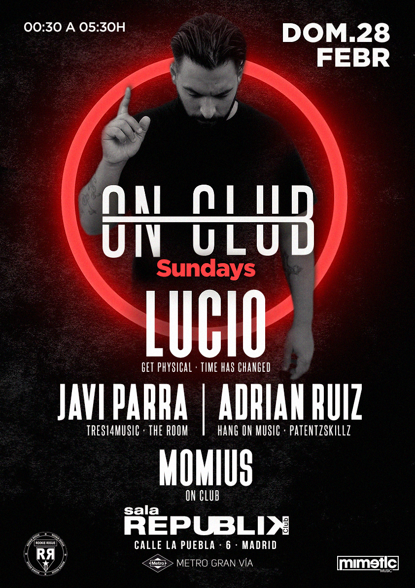 , ON CLUB. POSTER Music Club Party | Djs House | Electro | Dance | Comercial | Madrid | Clubbing | Tech | Flyer | Music Poster | Club | Techno | LUCIO, MySummer Combin Blog, MySummer Combin Blog