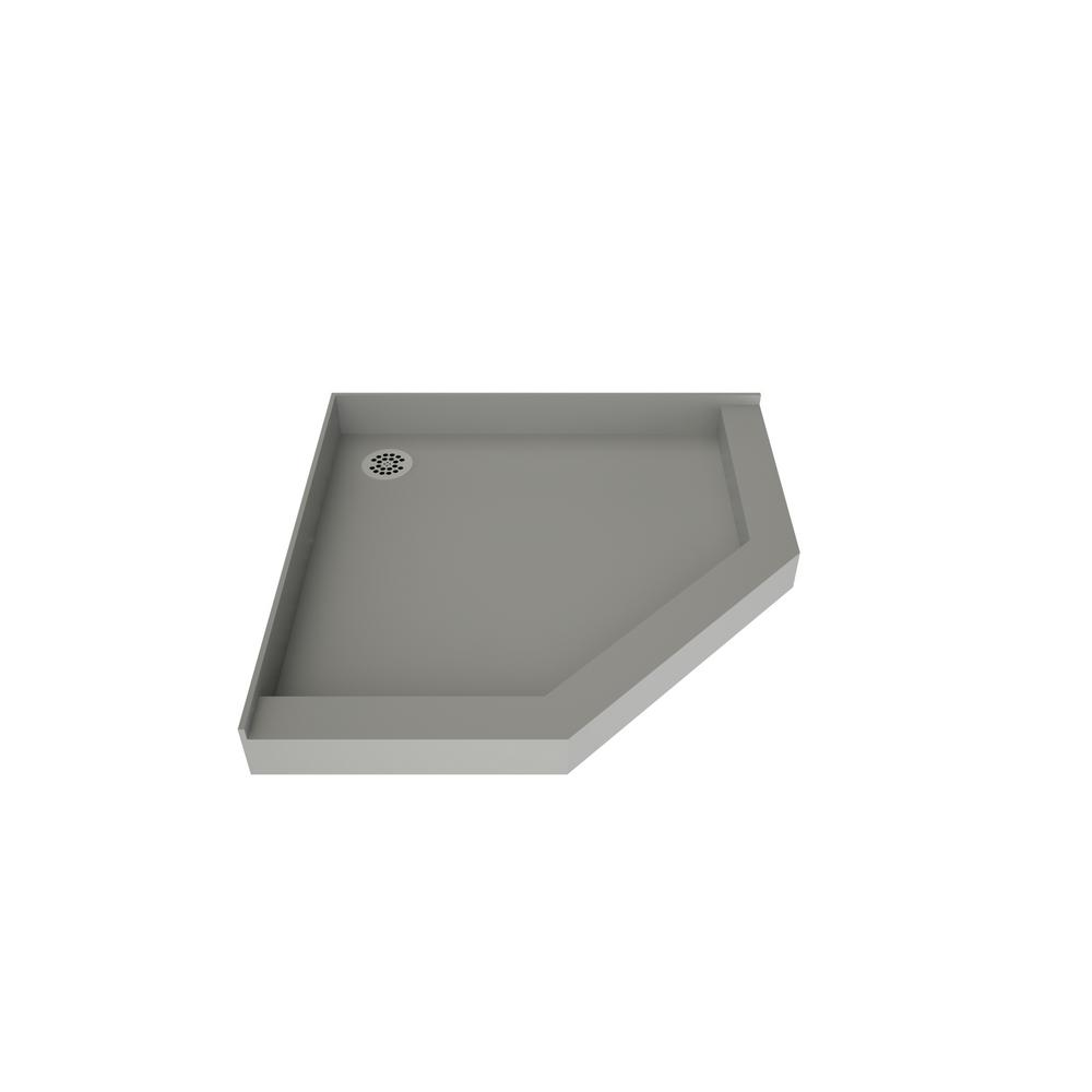 Tile Redi Redi Neo 48 In X 48 In Neo Angle Shower Base In Grey