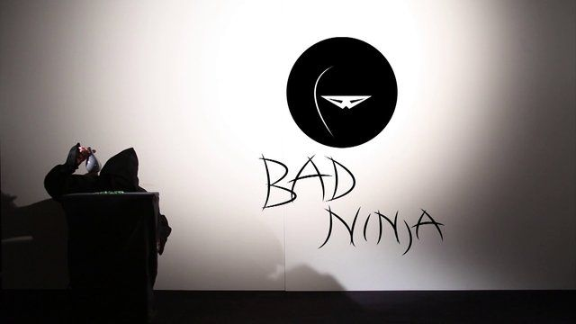 BadNinja, a lifesized and interactive Videoinstallation done with a kinect and processing.