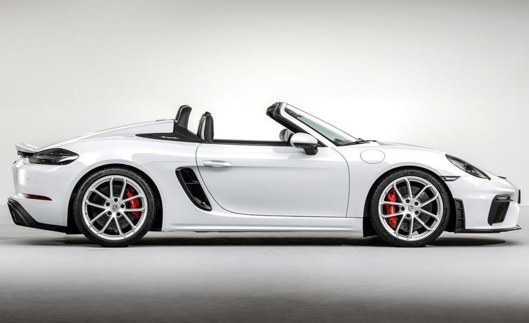 2020 718 Boxster Spyder Low Res And I Guess Not A Real Photo But An Utterly Perfect And Striking Porsche Boxster Spyder Porsche Convertible Porsche Boxter