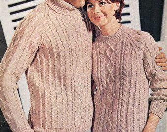 bde1a5dbeafe2 Womens knitting pattern womens aran sweater knitting by Hobohooks. Aran  SweatersAran JumperAran Knitting PatternsChartFilingPdf