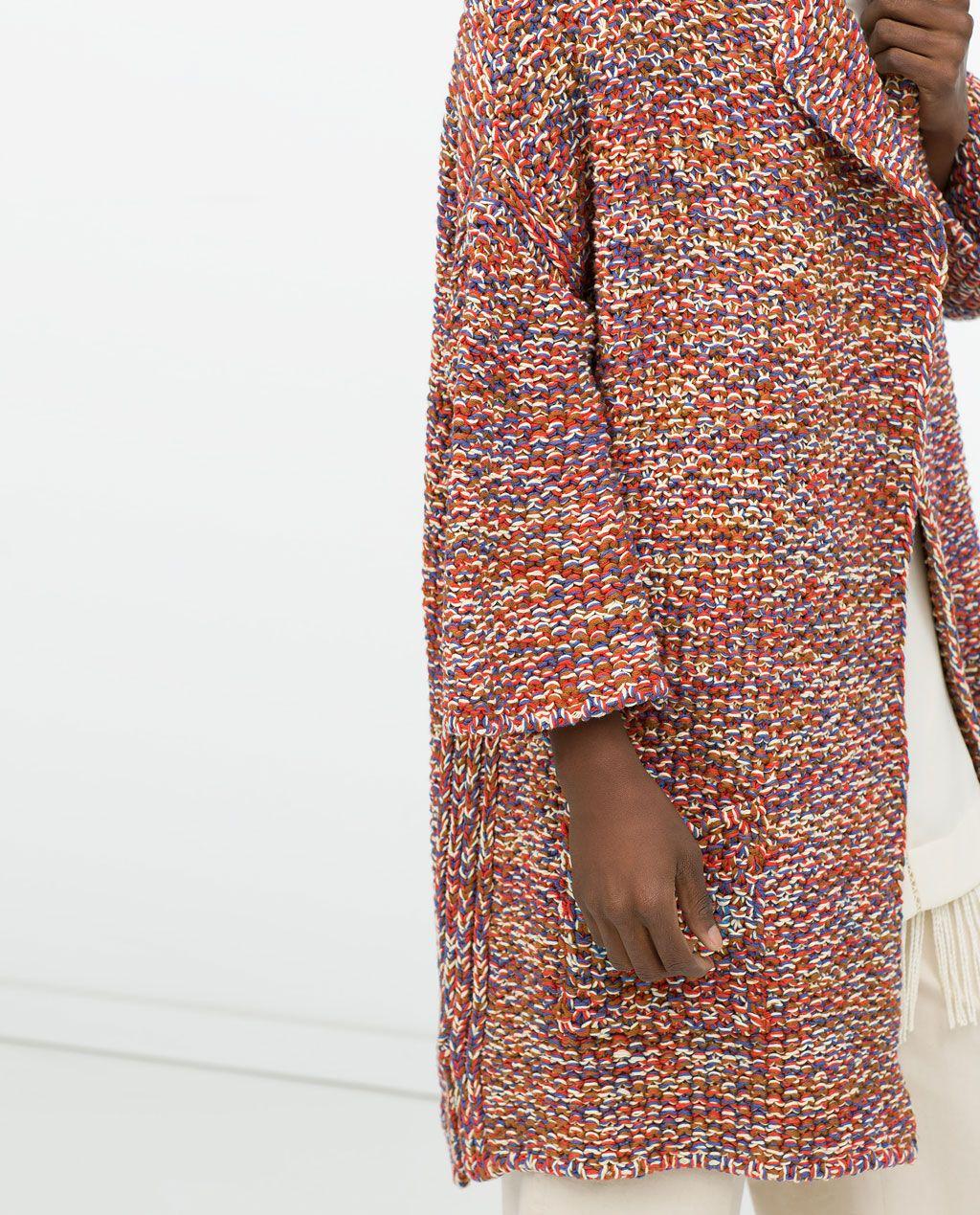 ZARA - FEMME - MANTEAU MULTICOLORE   TRICOT   Pinterest   Zara femme ... e65029c42bf5